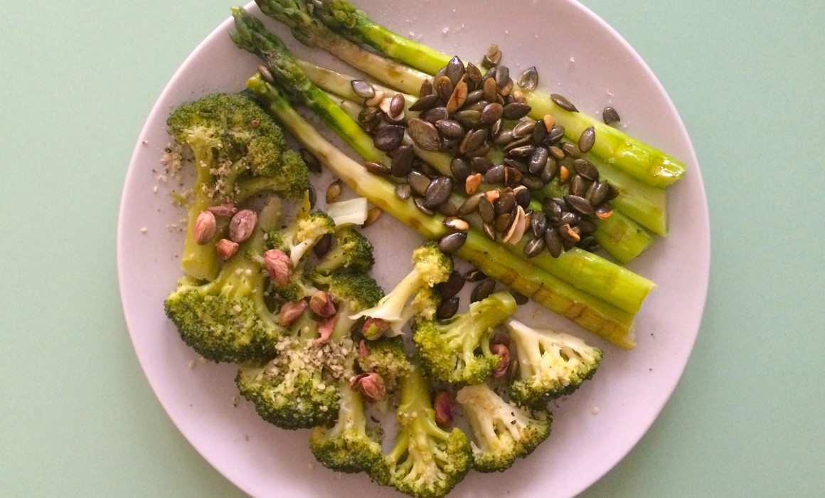 Asparagus Broccoli Pumpkin Seeds